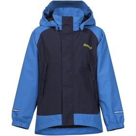 Bergans Kids Knatten Jacket Athens Blue/Navy/Spring Leaves